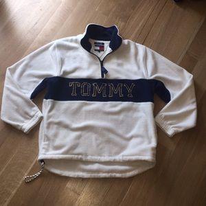 Tommy Hilfiger Fleece Logo Pullover Jacket Sm VTG